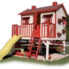 Red and White Outdoor Play House Design