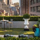 Rooftop Urban Garden Patio with Dining Table