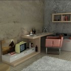 Teenager Workspaces Design with White Rug