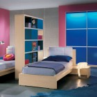 Twin Bed in Dark Pink Room Ideas