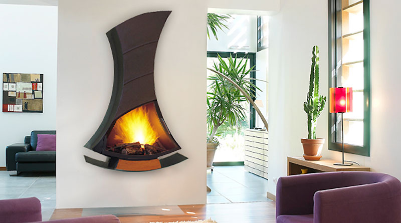 Unique Wall Fireplace Design