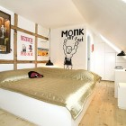 Urban Hotel Bedroom with Sloping Ceilings