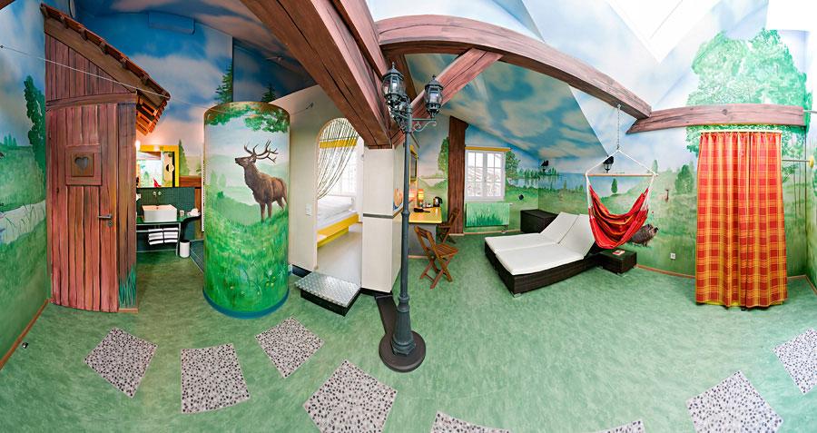 V8 Hotel Bedroom Camping Themed Room
