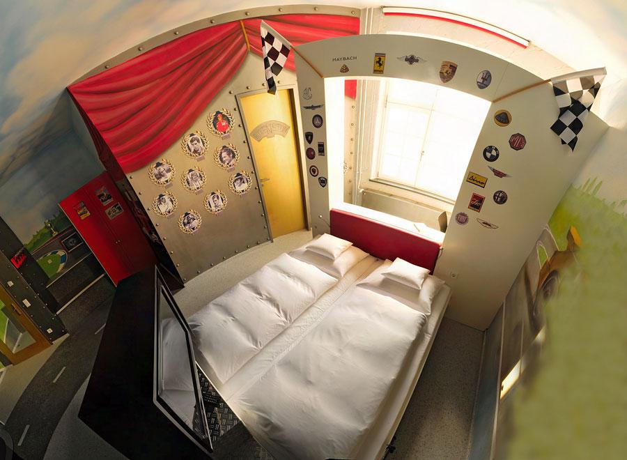 V8 Hotel Racing Themed Room Design