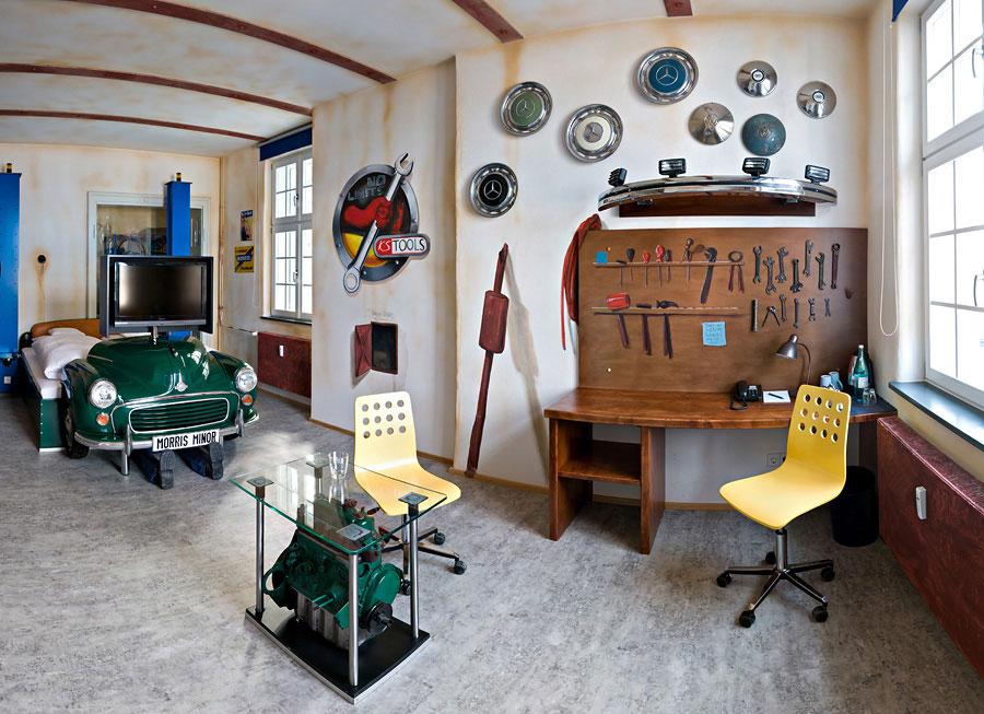V8 Hotel Workshop Themed Bedroom Inspirations