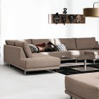 White Living Room Crafts with Brown Sofas