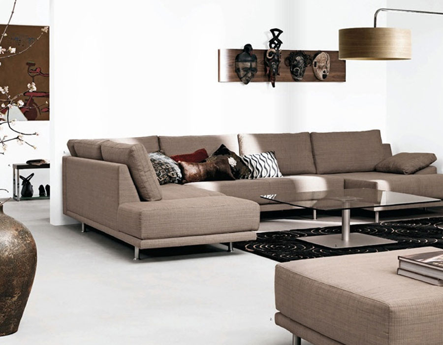 White Living Room Crafts With Brown Sofas Interior Design Ideas