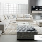 White Living Room with 3D Echo Square Wall