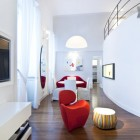 White Loft Hall and TV Room from Milan