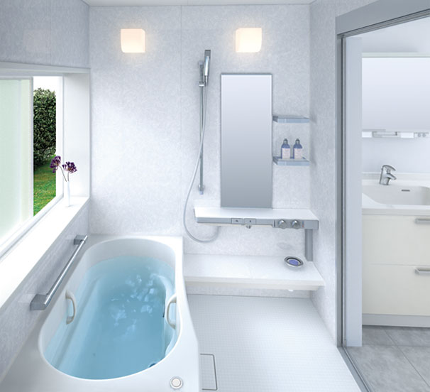 White Small Bathroom Design Sprino