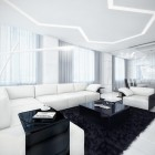 Modern and Futuristic Black and White Apartment