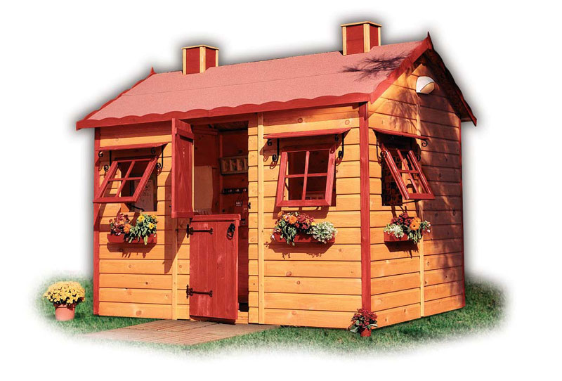 Wooden outdoor playhouses for kids architecture ideas for Playhouse interior designs