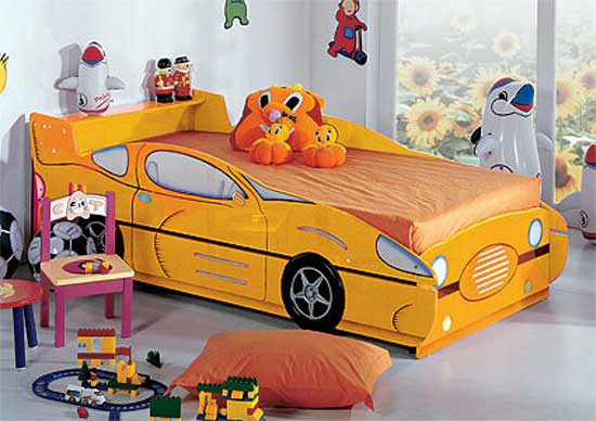 Yellow Car for Kids Bedroom Design