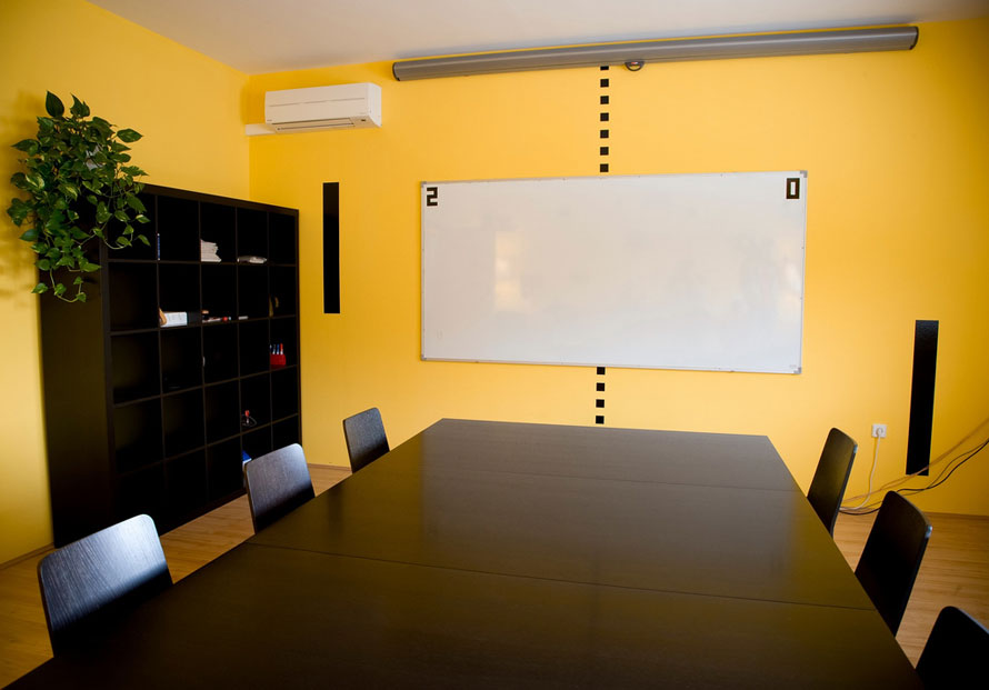 Yellow Conference Room Wall Decals Interior Design Ideas