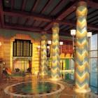 Amazing Interior Swimming Pool Design with Jacuzi