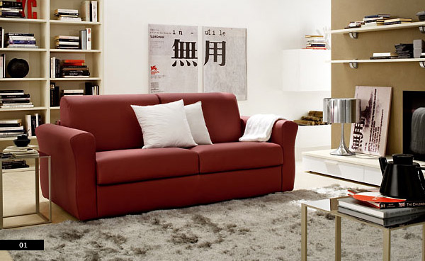 Asian Influenced Living Room With Red Leather Sofas Interior Design Ideas