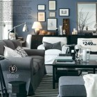 Awesome Grey Living Living Room IKEA 2012