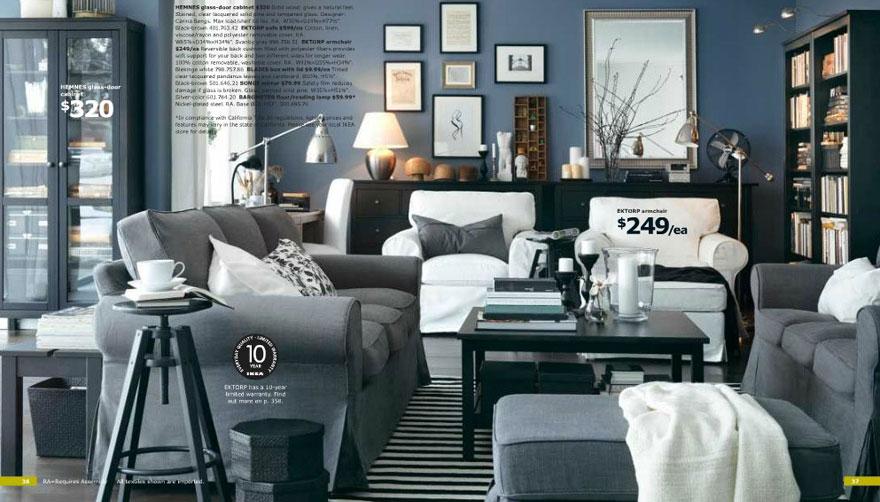 Awesome Grey Living Living Room IKEA 2012