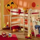 Awesome Red Kids Play Room with Bed