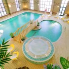 Beautiful Indoor Pools with Bridge and Jacuzi