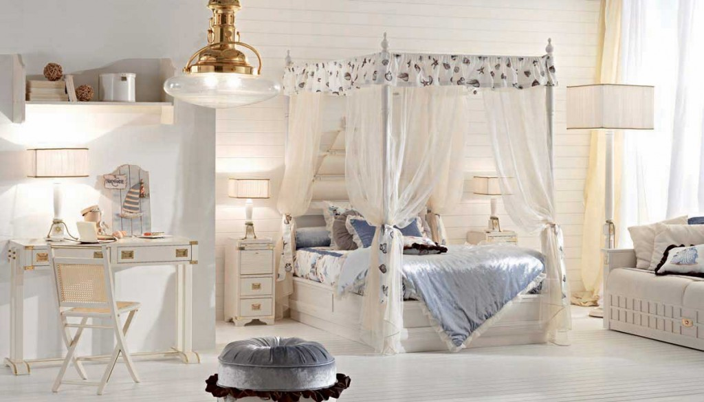 Canopy bed queen white in Beds - Compare Prices, Read Reviews and