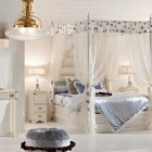 Beautiful White Girl Bedroom with Canopy Bed