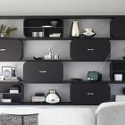 Black Cocoon Shelving System Furniture Designs