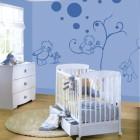 Blue Bear Doll Wall Sticker for Baby Nursery Room