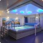 Blue Small Pool with Ceramic Tile Design