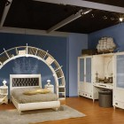 Blue and White Sea Theme Kids Bedroom Design