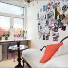 Bright Reading Room with Wall Cliping Decor