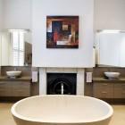 Brown Modern Ouval Bathub Design Ideas