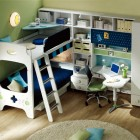 Bunk Bed Like Game Boy with Corner Study Desk