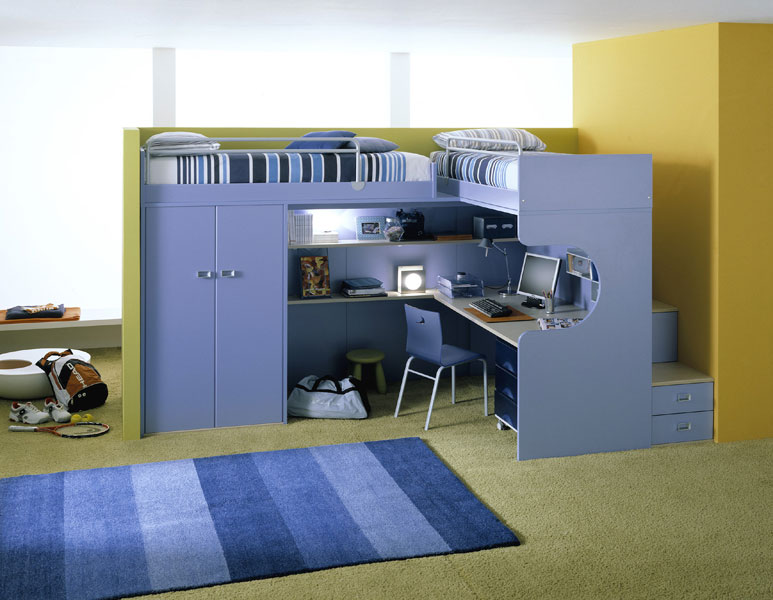 Bunk Beds Come inTwin Bed Over Study Desk