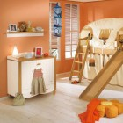 Calm Kids Play Room with Bunk Beds Camps Decor