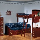 Classic Blue Sea Bunk Beds with Sailor Decorations
