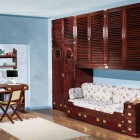 Classic Kids Bedroom with Wooden furniture and Study Desk