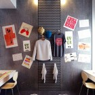 College Dormitory Design Ideas with Doble Study Desk