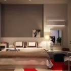 Contemporary Grey Bedroom with Closet by Nguyen