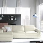 Cool Living Room White Sofa with Modern Lamps