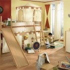 Cool Play Beds for Kids Room Design with Castle Decor
