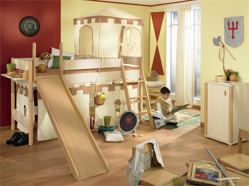 Cheerful and cool playroom for kids bedroom design ideas for Castle kids room