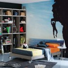 Cool Wall Sticker Teen Room Design