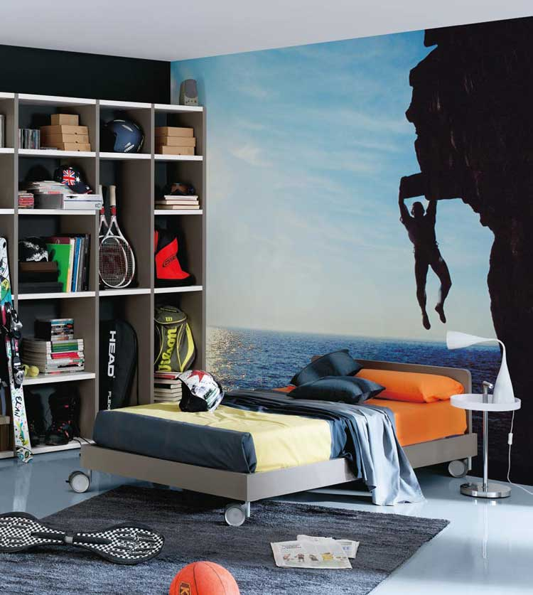 Cool Wall Sticker Teen Room Design - Interior Design Ideas
