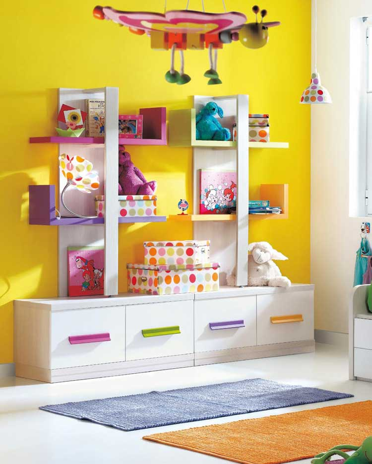 Yellow Kids Room: Modern Nursery And Kids Room Furniture Ideas