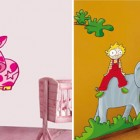 Cow and Elephant Kids Wall Stickers Decorations