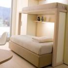Cream Sliding Bunk Beds Design Ideas