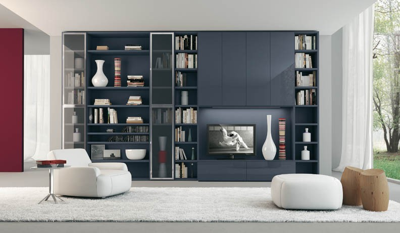 15 modern shelving unit furniture design ideas furniture for Modern living room shelving units