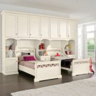 Double Bed Girl Room Classic Style with White Color