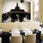 Eiffel Tower Wallpaper Decoration in Restaurant